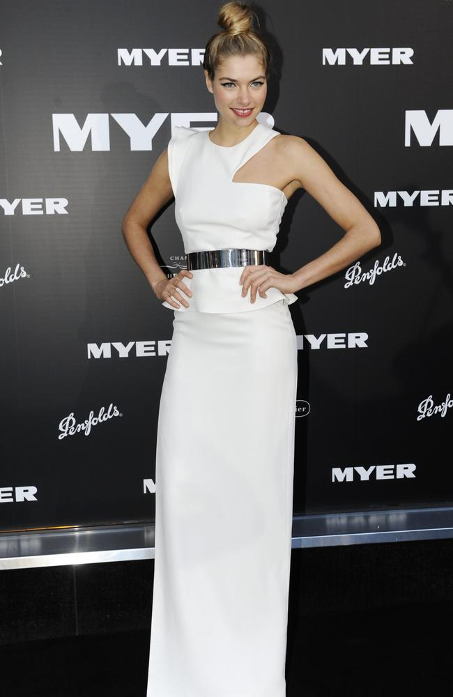 Jessica Hart, looking glam at the Myer 100th birthday celebration.