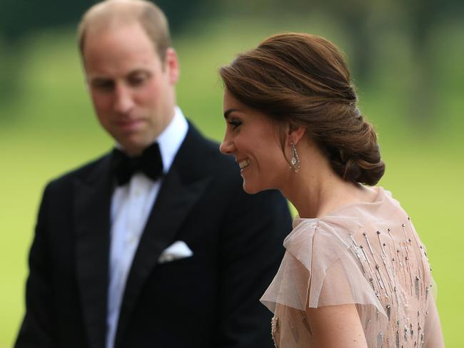 Wills clearly approves of Kate's style. Picture: Stephen Pond/Getty Images