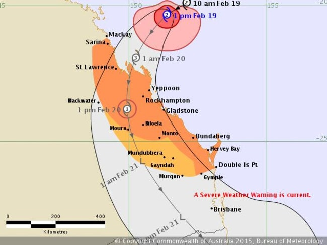 A BoM graphic shows Marcia's expected path.