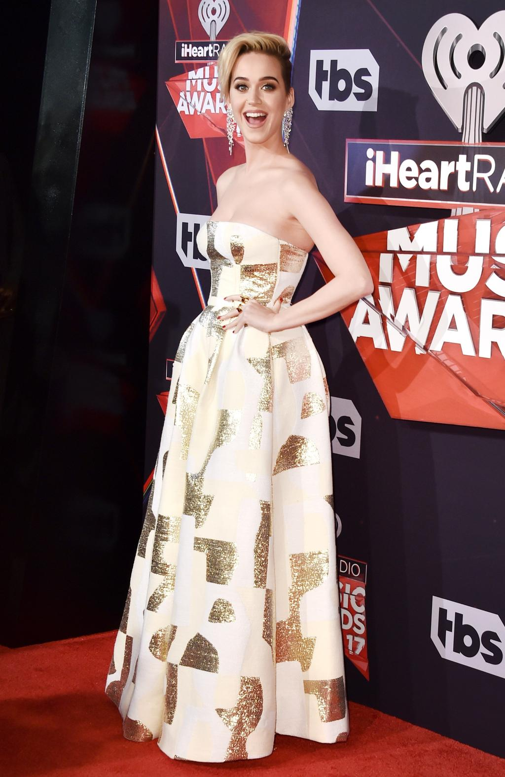 Katy Perry attends the 2017 iHeartRadio Music Awards on March 5, 2017 in Inglewood, California. Picture: AFP