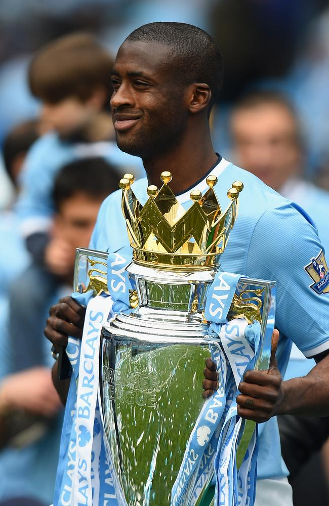 The EPL trophy was apparently less important to Yaya Toure than a birthday cake.