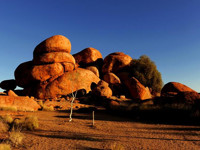 The Devils Marbles are a spectacular sight.