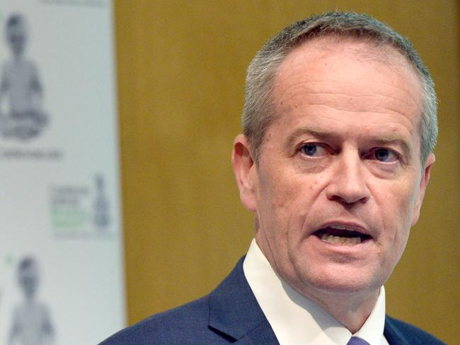 Opposition Leader Bill Shorten speaks at the New Horizons Conference at the Centenary Institute in Sydney today.