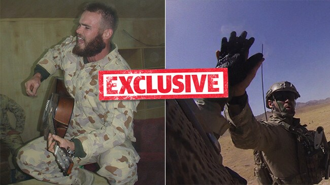 Cameron Baird VC MG on duty in Afghanistan. Picture: Supplied