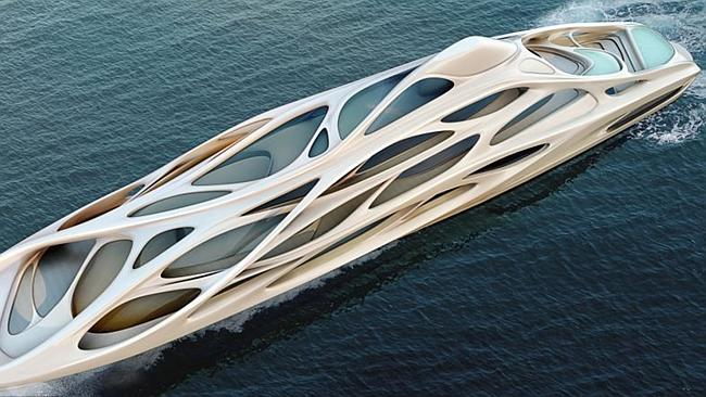 There's also a smaller 90 metre yacht. Picture: Moka for Zaha Hadid and Blohm + Voss