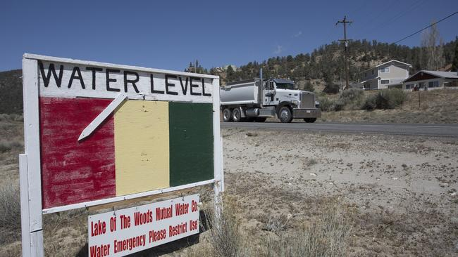 Groundwater level sign emphasises the urgency of a drought related
