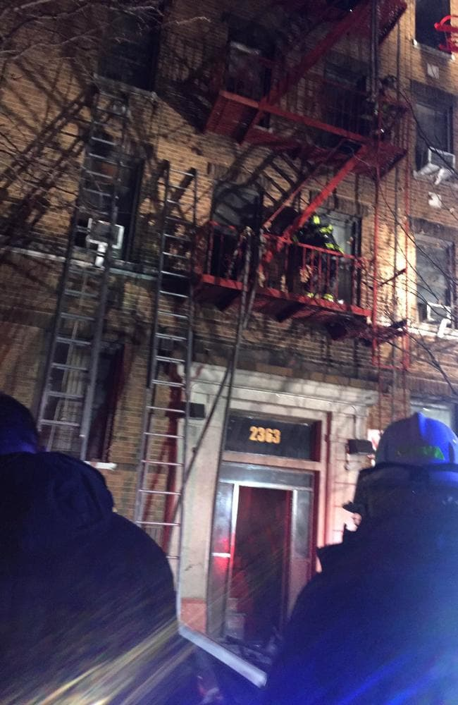 Firefighters at 2363 Prospect Ave in the Bronx. Picture: New York Fire Department