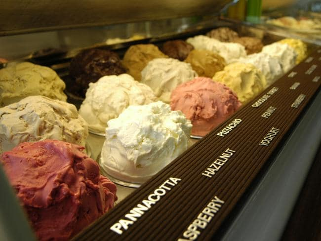 Gelato Messina's array of flavours.