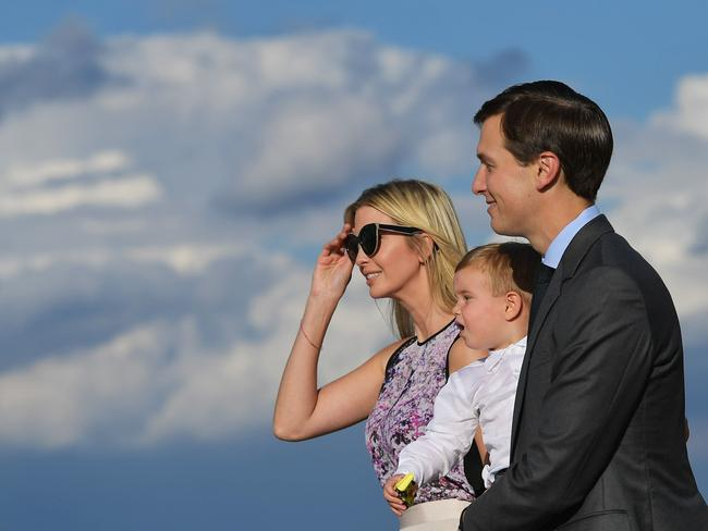 Ivanka Trump and husband Jared Kushner set up a private family server before moving to Washington, Politico reports. Picture: AFP PHOTO / MANDEL NGAN