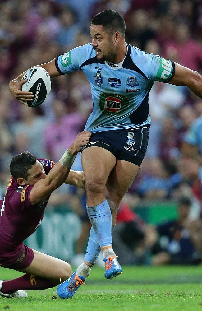 Jarryd Hayne was outstanding for the Blues.