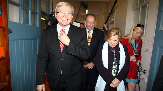 Kevin Rudd in Sydney today said the comments were ''sick''. Picture: Renee Nowytarger