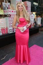 <p>Mimco fashion accessories store on George Street hosts a Barbie Loves Mimco party. ( L to R ) Ricki Lee Coulter Picture: Richard Dobson</p>