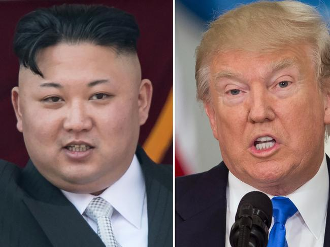 US President Donald Trump and North Korean leader Kim Jong-un are talking tough. Picture: AFP