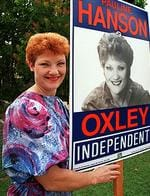 <p>Pauline Hanson launches her campaign in 1996.</p>