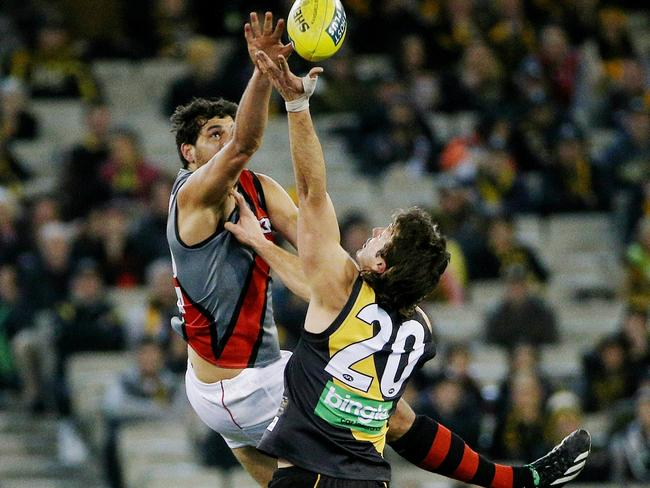 Despite the ongoing saga, Essendon continues to perform on the field. Picture: Colleen Petch.