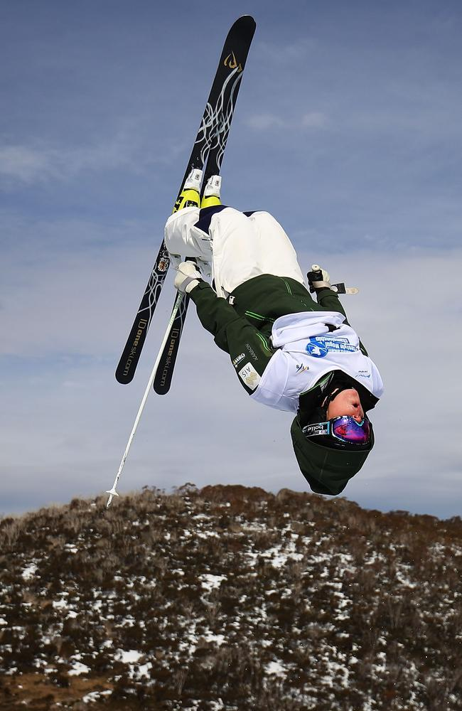 Britt Cox competing at Perisher last year. Pic: Getty