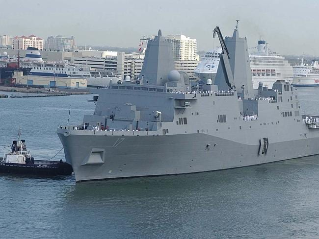 Where it all ended: The USS San Antonio. Picture: Wikimedia Commons