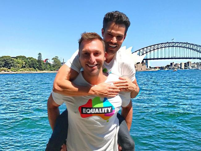 Ian Thorpe and his boyfriend Ryan Channing are clearly loved up. Picture: Ian Thorpe/Instagram