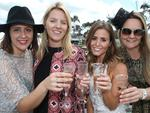 We'll drink to that! Jacqueline Xuereb,Jen Quinn, Christa Lush and Marcella Bisset..