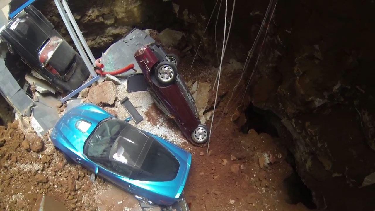 Sinkhole Swallows Corvettes At Museum In Kentucky