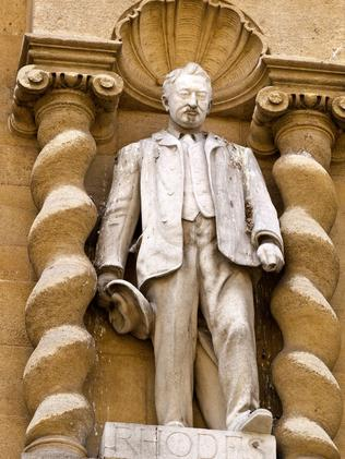 Oxford's statue of Cecil Rhodes.