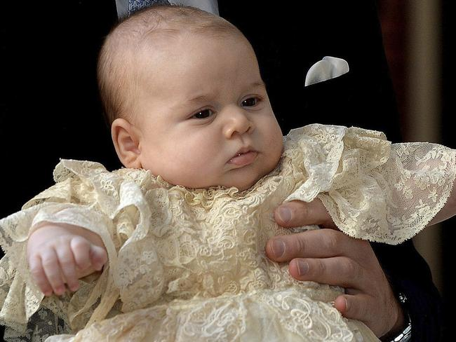 Inspiration ... George also made the list of top 10 baby names, after the birth of the newest British prince.