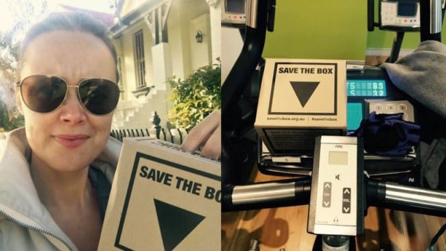 Pictures: Supplied. Cat Rodie takes the #savethebox challenge.