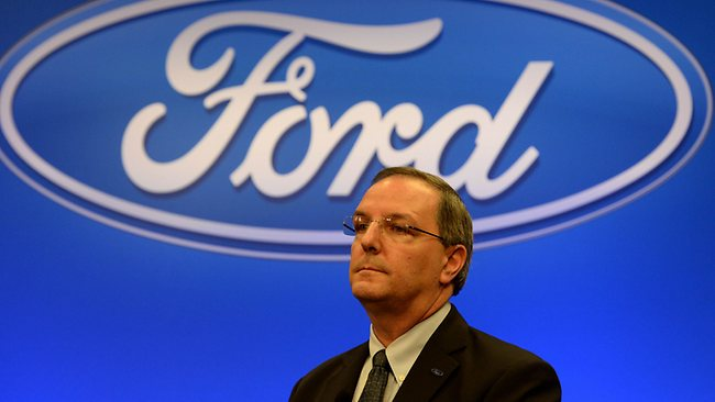 Ford Australia president and CEO Bob Graziano announces the Ford closure. Picture: Mal Fairclough.