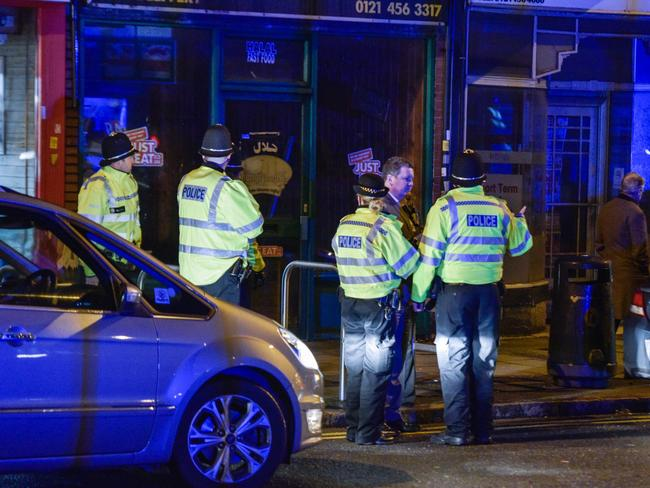 Police outside an address on Hagley Rd, Birmingham. Picture by Michael Scott/Caters News