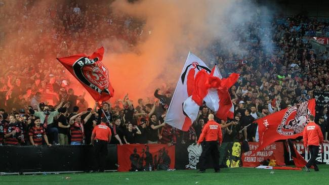 western sydney wanderers flares up - photo#16