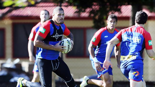 Willie Mason at Knights training.