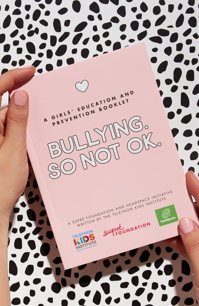 Supre, Headspace and Telethon Kids Institute have launched a new book to tackle bullying among teenagers. Picture: Supre