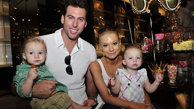 HAPPIER TIMES: Grant Hackett and Candice Alley with their twins Jagger and Charlize. Picture: Erinna Giblin,