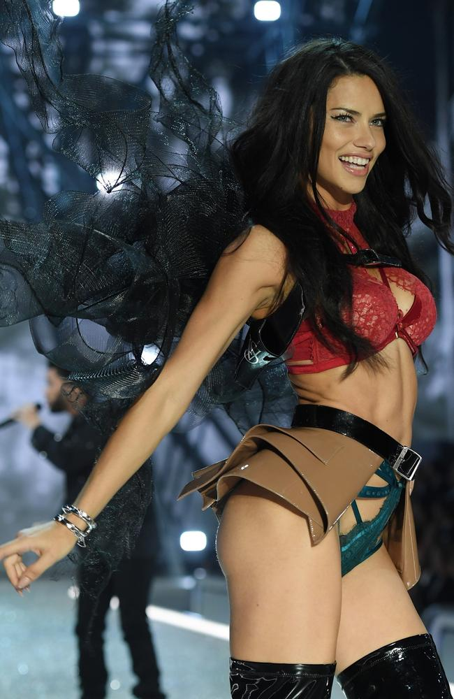 Victoria's Secret angel Adriana Lima on the runway in Paris last year. Picture: Getty Images
