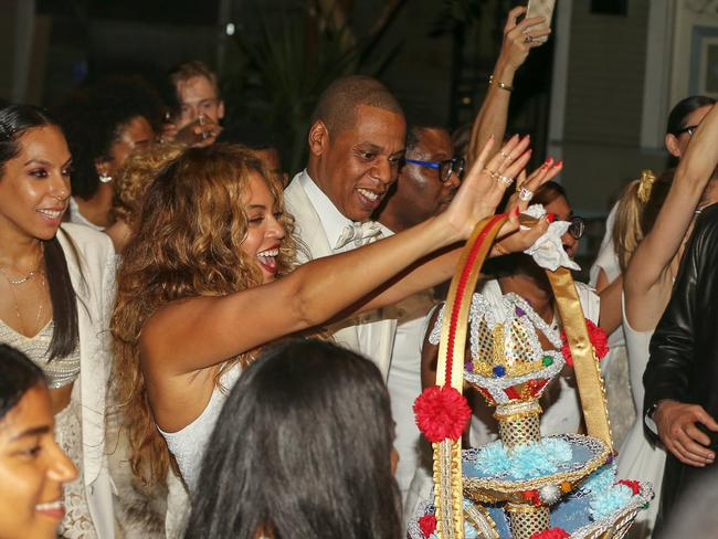 Beyonce and Jay Z help along the celebrations. Picture: Snapper