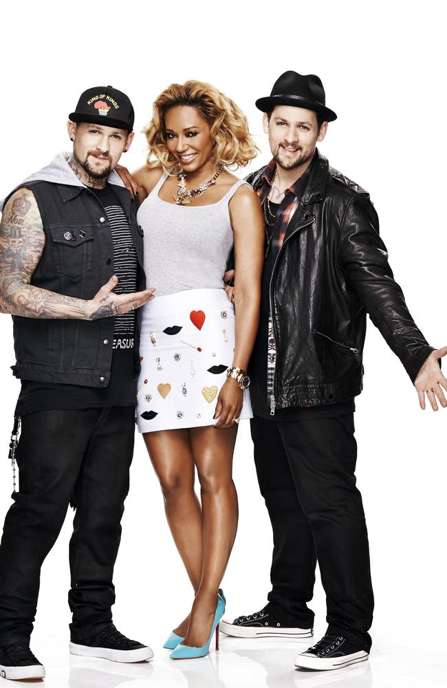 Benji Madden, Mel B and Joel Madden team up for Channel 9's  <i>The Voice Kids</i>.