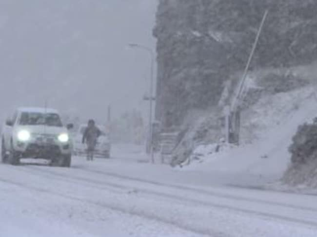 Snow at Mount Hotham on the morning of April 26. Picture: Hotham Alpine Resort