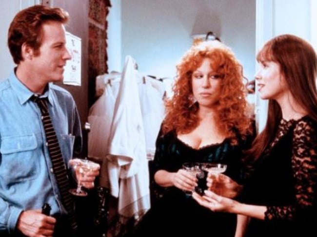 John Heard opposite Bette Midler and Barbara Hershey in the 1988 hit  <i>Beaches</i>. Picture: Supplied