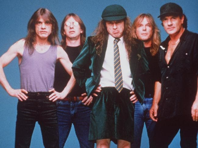 Heavy metal band ... AC/DC who have rocked the world with their music.