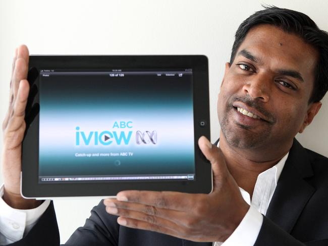Free no more? … Arul Baskaran displays ABCs iView platform.