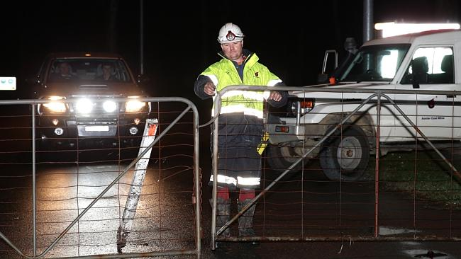The Austar Coal Mine was locked down night following a wall collapse. Picture: Bill Hearne