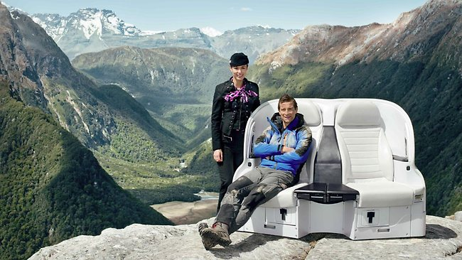 Bear Grylls Air New Zealand safety video