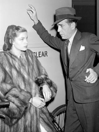 Formidable ... Actor Humphrey Bogart and actress Lauren Bacall about the time they appeared together in the 1946 film, The Big Sleep.