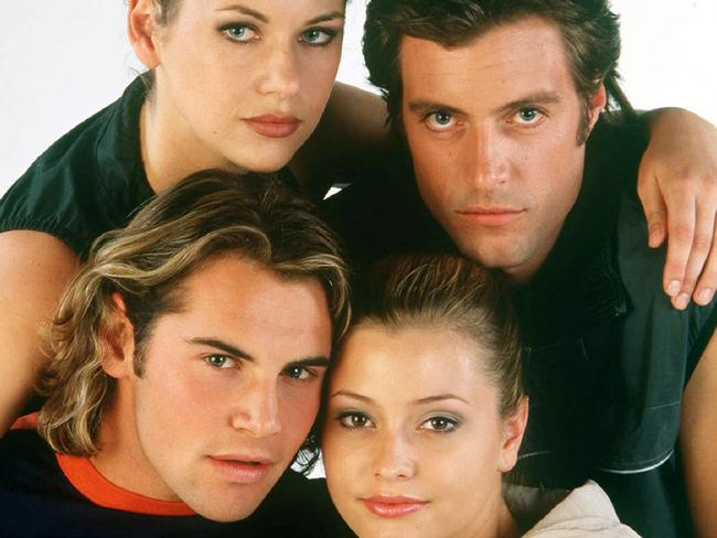 Former Neighbours stars: Krista Vendy, Dan Paris, Holly Valance and Daniel Macpherson.