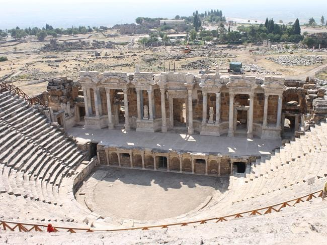 Hierapolis ruins of the ancient city Pamukkale in Turkey.