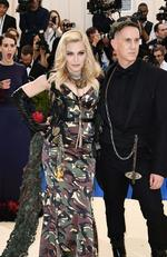 Mandatory Credit: Photo by Rob Latour/REX/Shutterstock (8770826iw) Sarah Paulson, Madonna and Jeremy Scott The Costume Institute Benefit celebrating the opening of Rei Kawakubo/Comme des Garcons: Art of the In-Between, Arrivals, The Metropolitan Museum of Art, New York, USA - 01 May 2017 Picture: Shutterstock/Splash