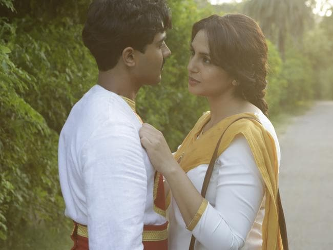 (From left:) Manish Dayal and Huma Qureshi in a scene from the film.