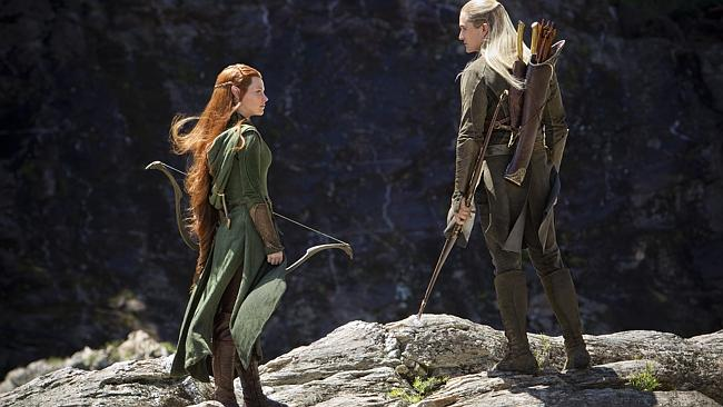 Lilly and Orlando Bloom (Legolas).