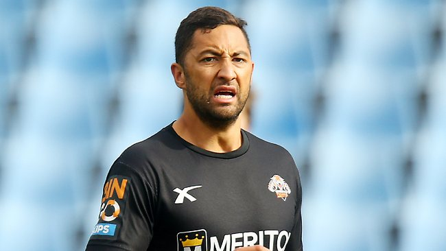 Benji Marshall trains with the Wests Tigers at Concord Oval this week. Picture: Mark Evans