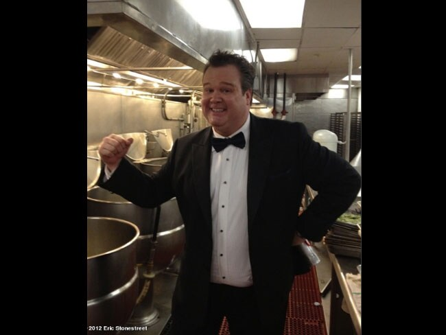 Eric Stonestreet headed straight to the kitchen. Picture: Twitter